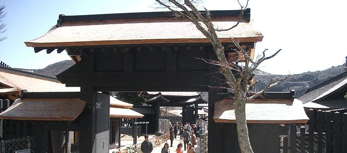 箱根関所・門 復元工事